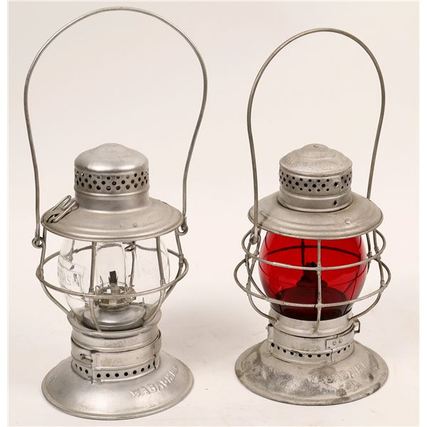 Adlake Conductor's Lanterns, Wabash Railroad, Red & Clear Globes  [138582]