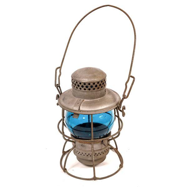 Adlake Kero Conductor's Lantern, Western Pacific Railroad, Blue Globe  [138579]