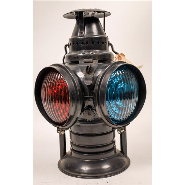 Railroad Switch Lamp by Adlake - Complete, Excellent Condition  [138328]
