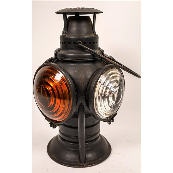 Railroad Switch Lamp by Adlake - Yellow/Clear Lenses  [138330]