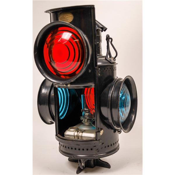 Railroad Switch Signal Lamp by Adlake - Near Complete  [138329]