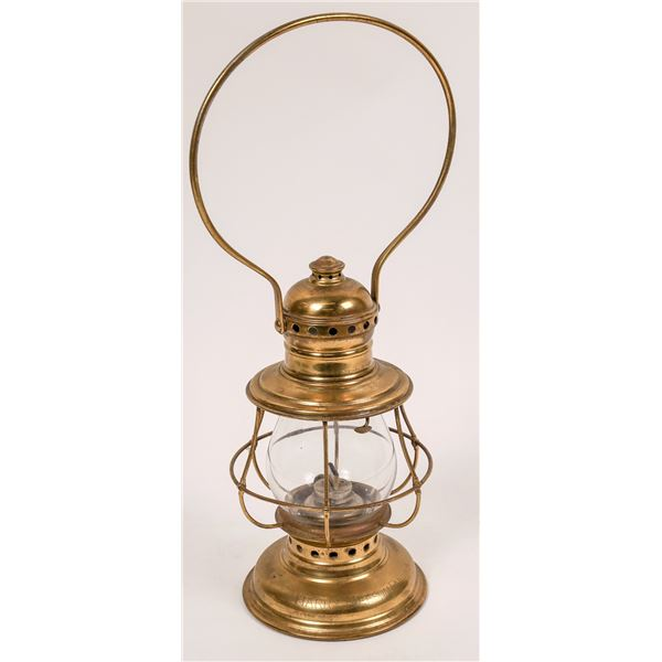 CT Ham Co. Railroad Conductor's Lantern, Model 3-1/2, Brass Plated  [138571]