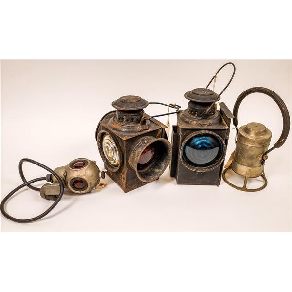 Railroad Lamp Group - 4 pieces  [138332]
