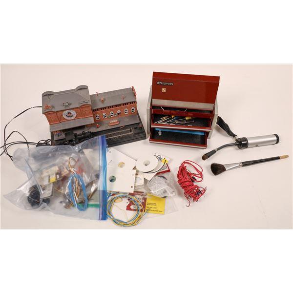 Snap-on Hobby tool box, Train depot clock  [138026]