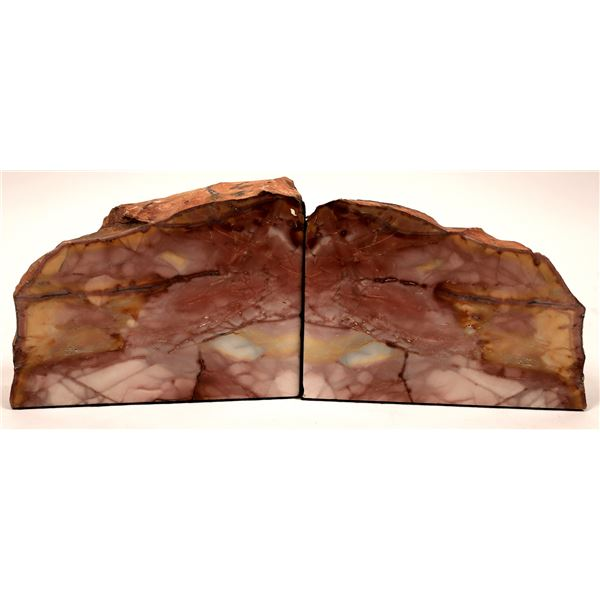 Polished Chert Bookends, Matched Pair  [138298]