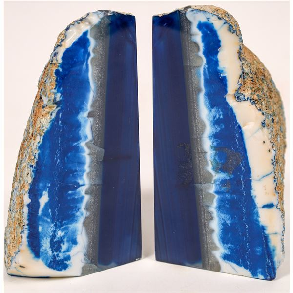Polished, Dyed Geode Bookends, Matched Pair  [138299]