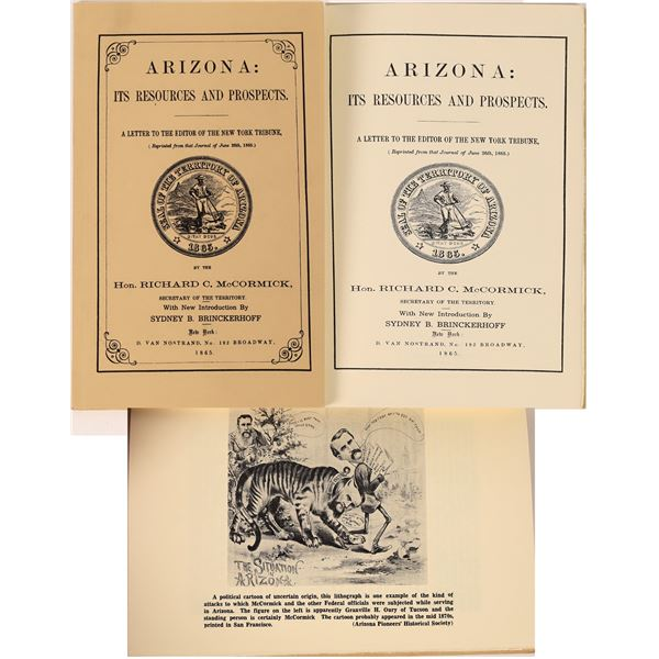 Arizona: Its Resources and Prospects 1865 (Reprint)  [125495]