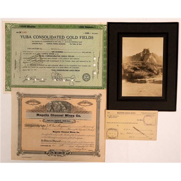 Butte County Mining Stocks & Rare Ephemera: Cherokee, Forbestown  [138189]