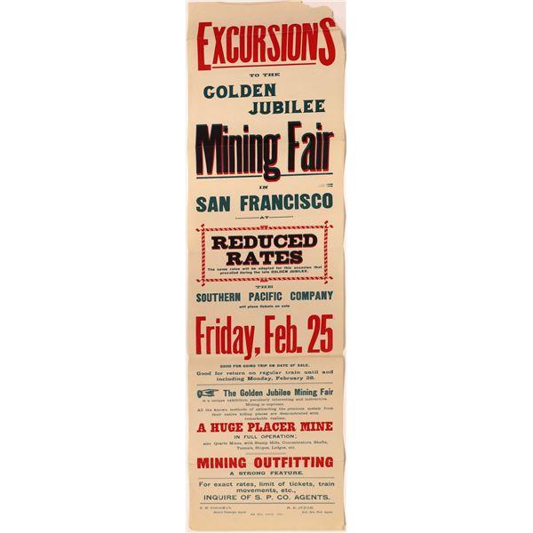 Railroad Excursion to Golden Jubilee Mining Fair Advertisement  [139687]
