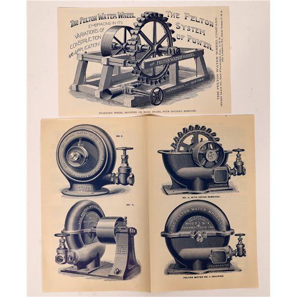 Pelton Water Wheel Pamphlets (2)  [139885]