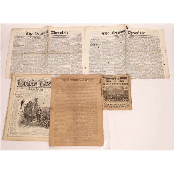 Newspapers including Discussions of California Gold (5)  [139279]