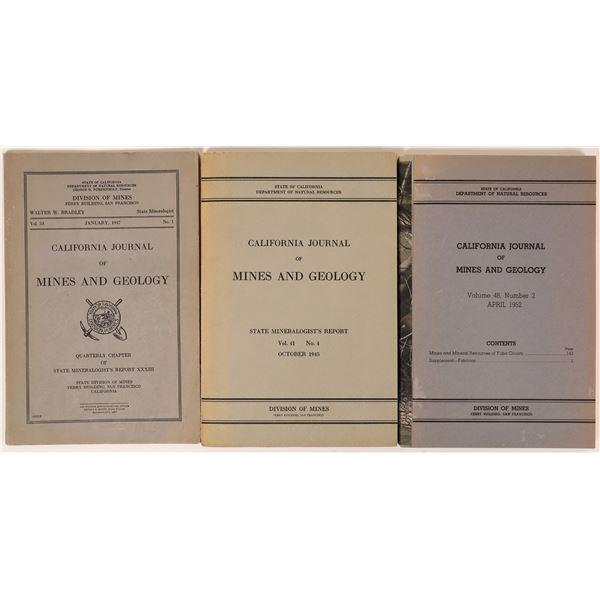 California Journal of Mines & Geo. Reports (3)  [139428]
