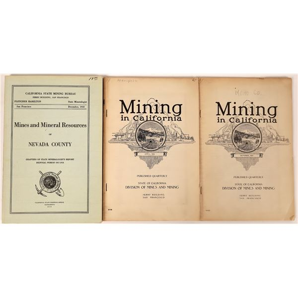 California State Division of Mines Reports (3)  [139430]