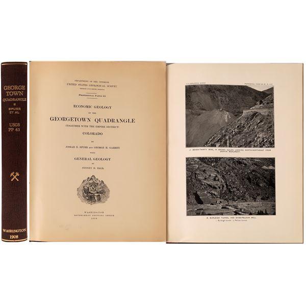 "U.S.G.S. Professional Paper 63, ""Economic Geology of the Georgetown Quadrangle"", Colorado  [139424]"