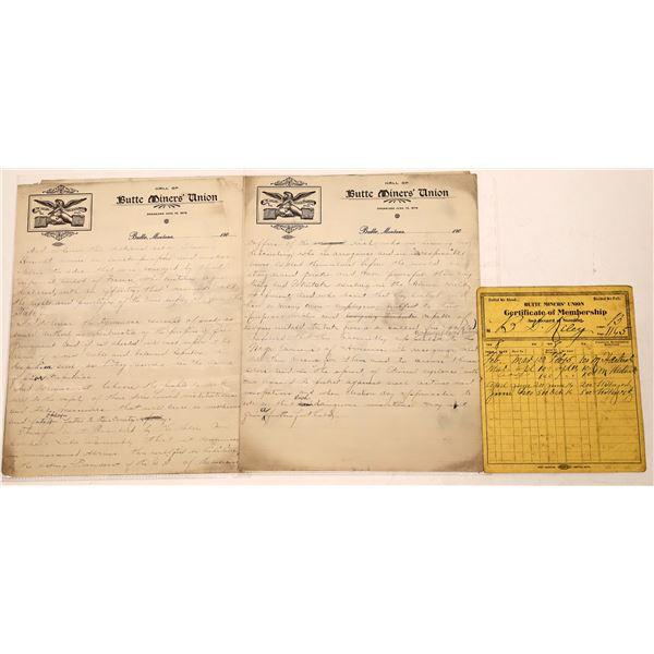 Butte Miners' Union Ephemera (5)  [128197]