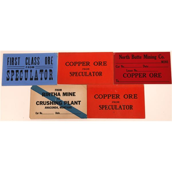 Placards for Railroad Ore Cars, Butte, MT (5)  [140773]