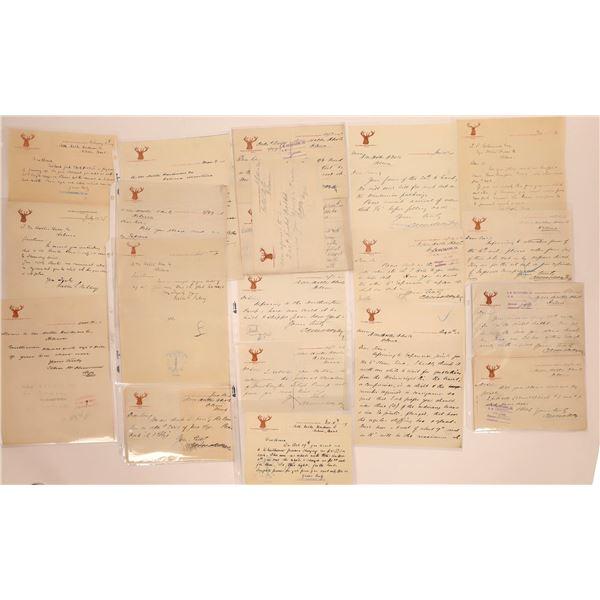 Elkhorn Mining Co. Correspondence, c1887-1897  [141139]