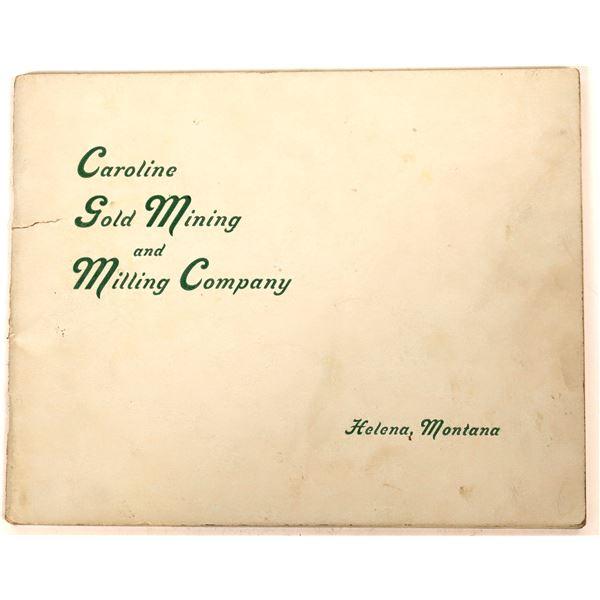 Caroline Gold Mining and Milling Company Brochure  [140165]