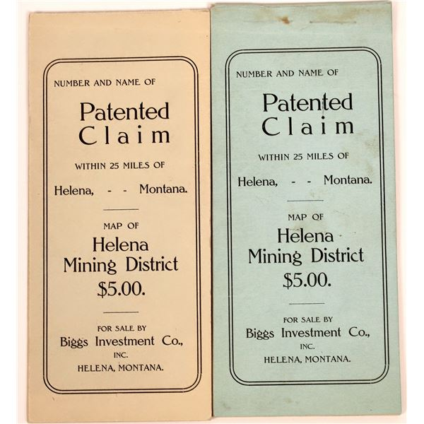 Helena Mine Patent Claims Booklets (2)  [140513]