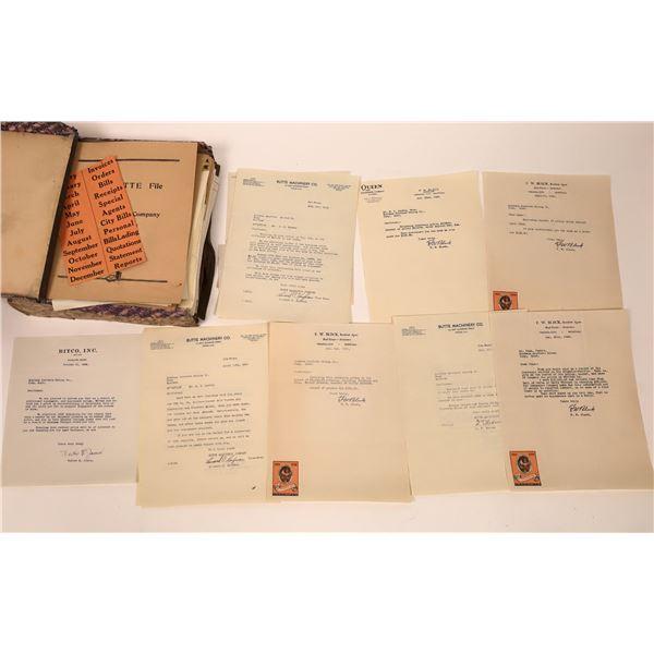 Montana Southern Mining Company Original Correspondence (250+)  [140694]