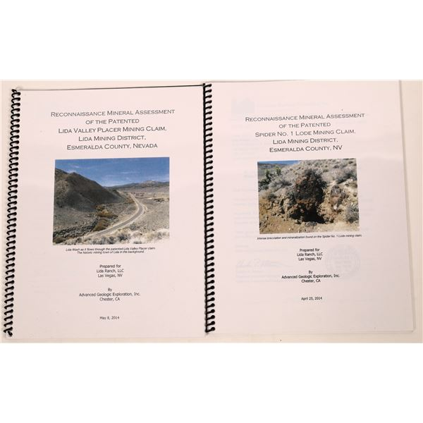 Lida Geological Mining Reports (2)  [139386]