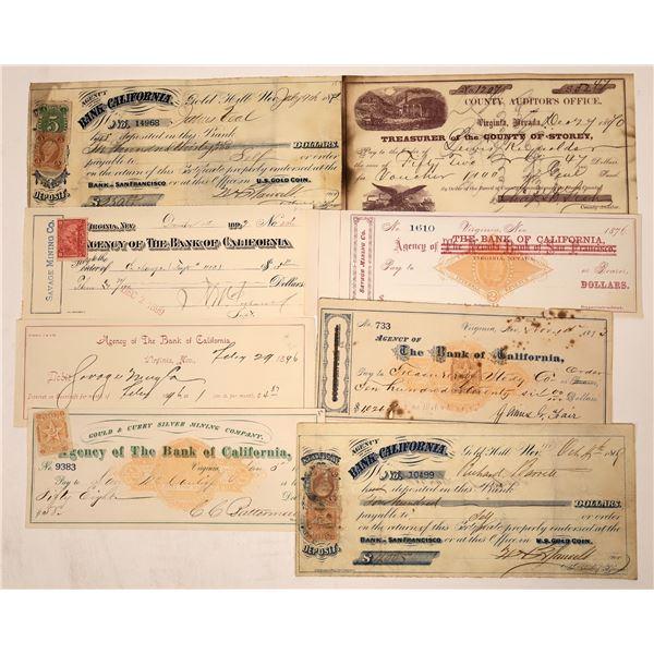 Virginia City Check Collection  [138460]