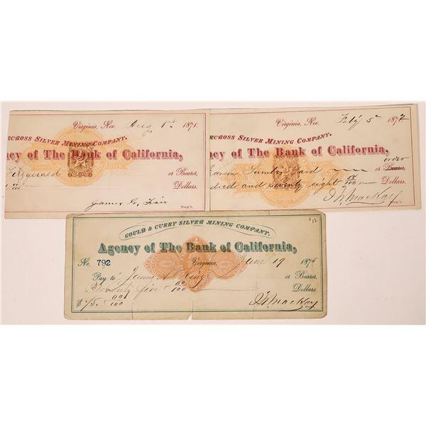 RN Checks with Mackay & Fair Autographs (3)  [139158]