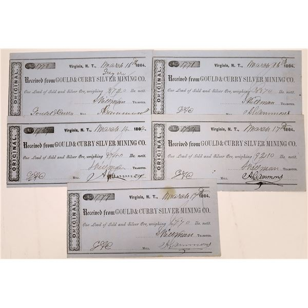 Gould & Curry Silver Mining Ore Receipts  [138469]