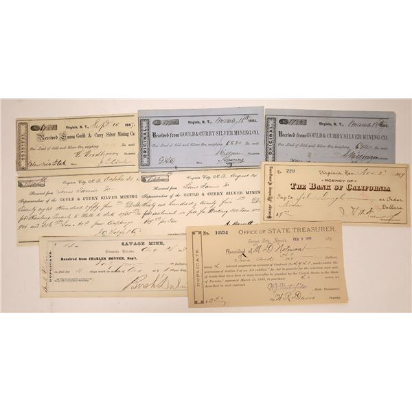 Comstock Mining Receipt Collection including Territorial  [138470]