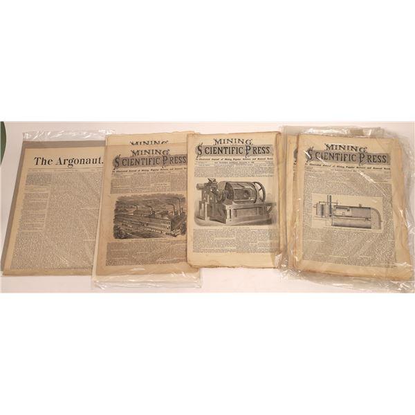 Mining and Scientific Press & Argonaut Magazine Collection (10)  [139676]