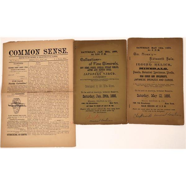 Antique Mineral Auction Catalogs  [139024]