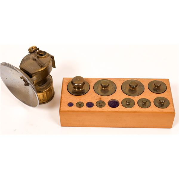 Miner Weight Set & Lamp  [139352]