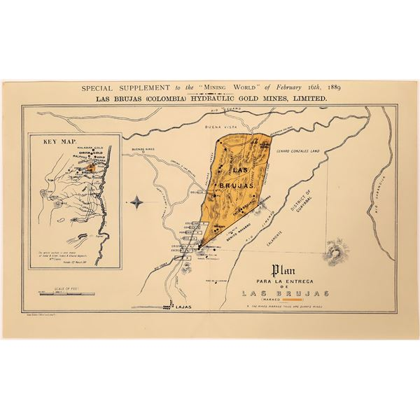 Plan – Para le Entrega de Las Brujas Colored Map  [130455]