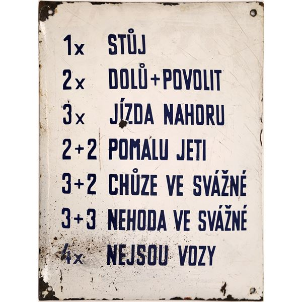 Polish Mine Signal Sign  [138393]