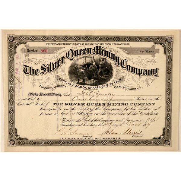 Silver Queen Mining Company Stock Certificate  [107747]