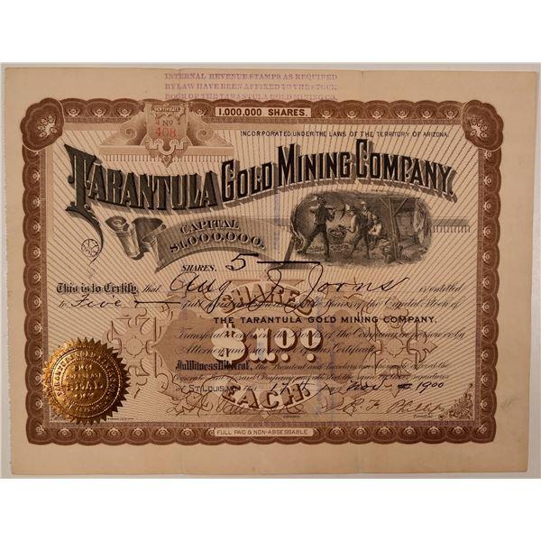 Tarantula Gold Mining Company Stock Certificate  [107732]