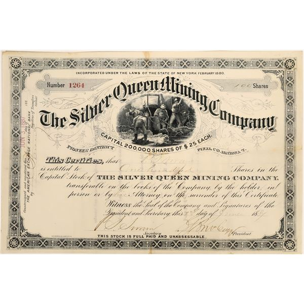 Silver Queen Mining Company Stock Certificate  [135800]