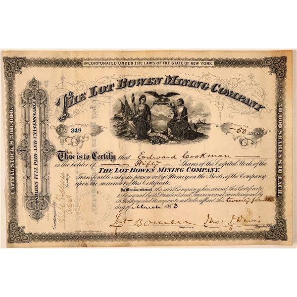 Lot Bowen Mining Company Stock Certificate  [107753]
