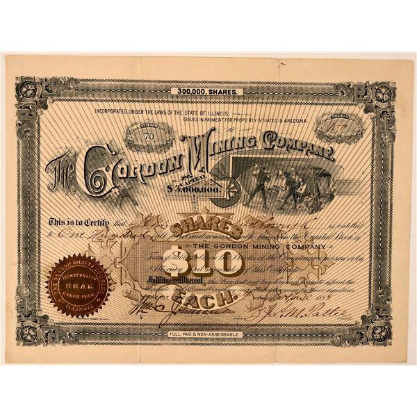 Gordon Mining Company Stock Certificate  [107748]