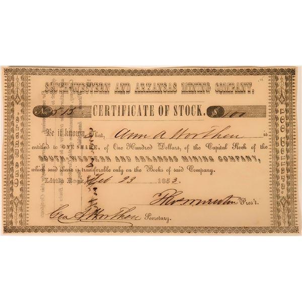 South Western & Arkansas Mining Company Stock  [118435]