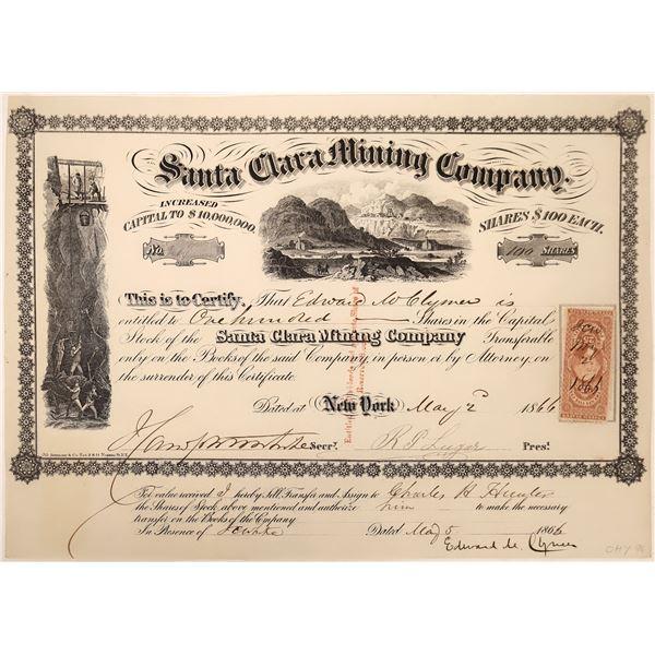 Santa Clara Mining Co. Stock Certificate (RARE)  [129703]
