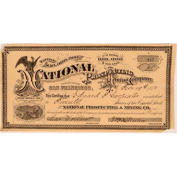 National Prospecting and Mining Company Stock  [119771]