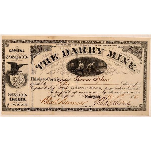 Darby Mine Stock Certificate  [107704]