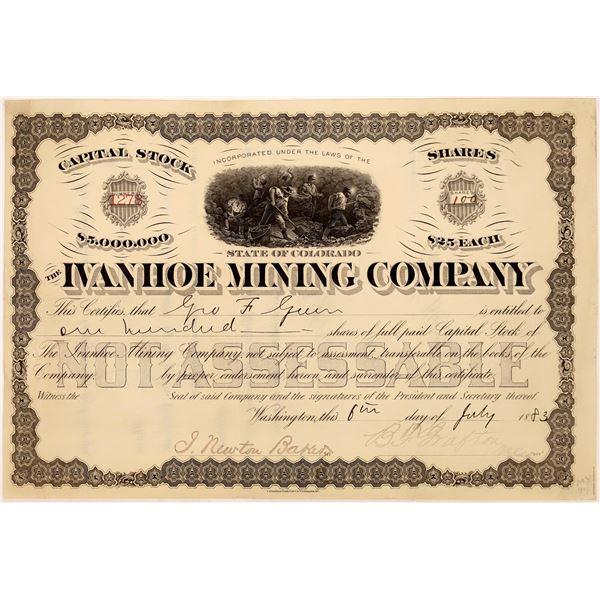 Ivanhoe Mine Stock Certificate  [128102]