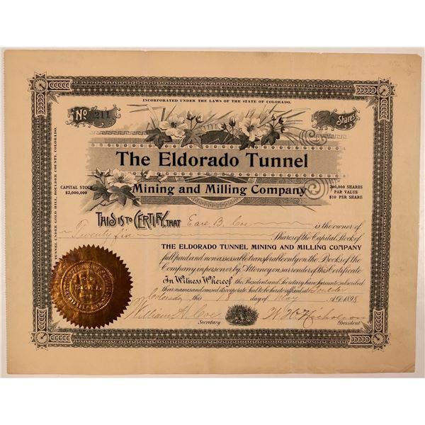 Eldorado Tunnel, Mining & Milling Company Stock Certificate  [107730]