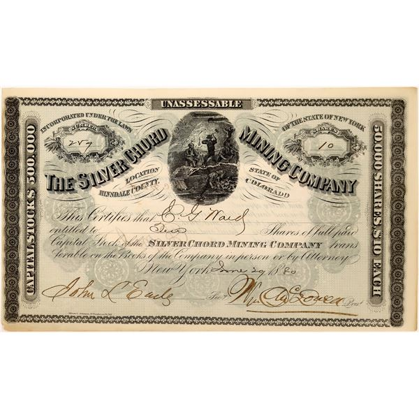 Silver Chord Mining Company Stock Certificate  [128119]