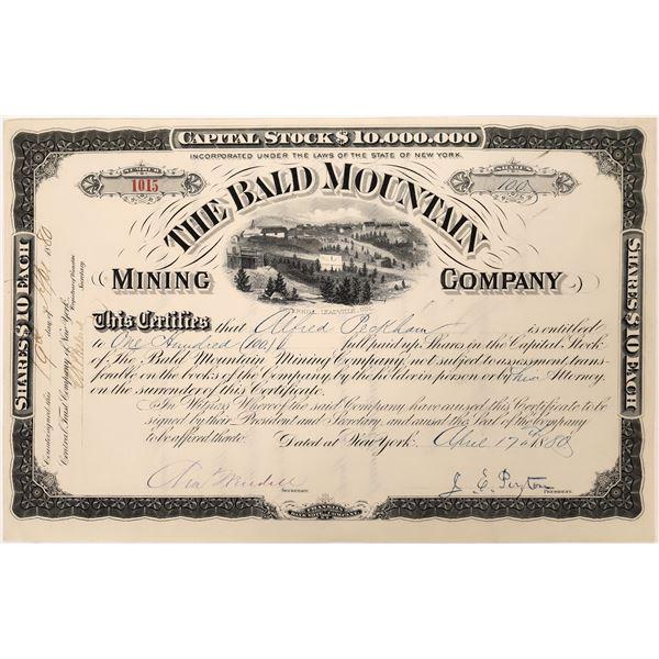 Bald Mountain Mining Stock Certificate  [128107]