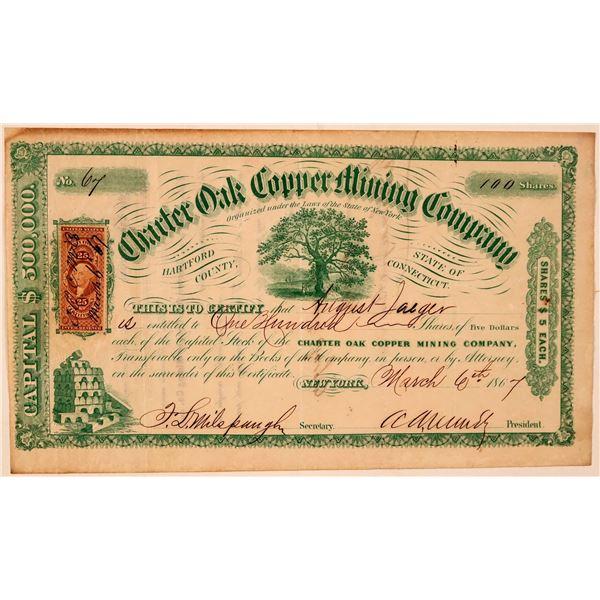 Charter Oak Copper Mining Company Stock Certificate  [107752]