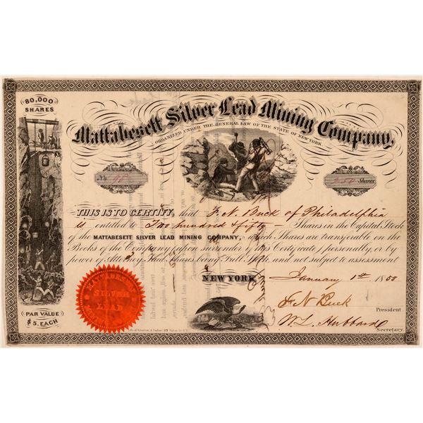 Mattabesett Silver Lead Mining Company Stock Certificate  [107807]