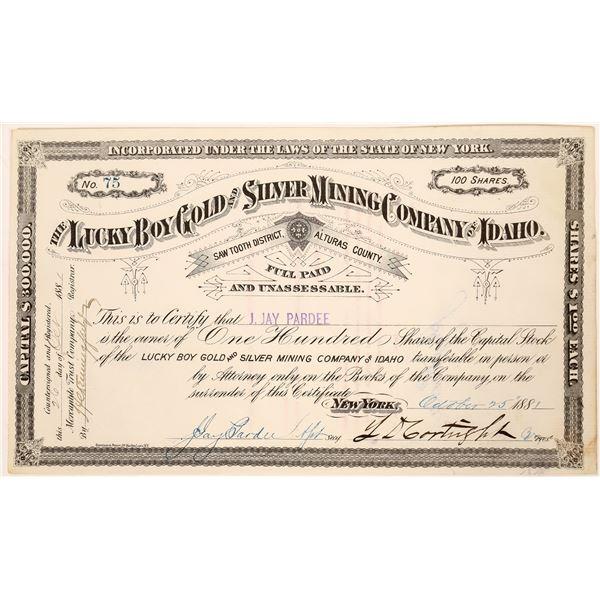 Lucky Boy Gold & Silver Mine Stock Certificate  [128117]